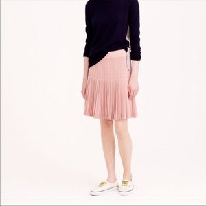 J. Crew Lattice Dusty Pink Pleated Skirt